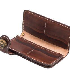70's Wallet Long Flat - Brown Interior