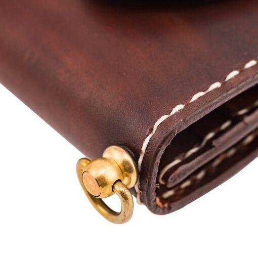 70's Wallet Long Flat - Brown Ring