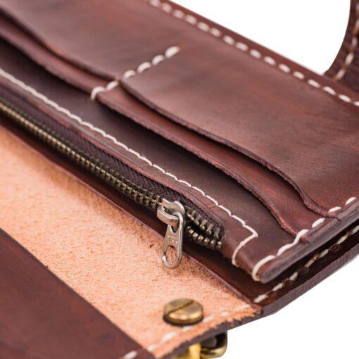 70's Wallet Long Flat - Brown Zip