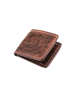 70's Wallet Pocket Engraved Black - Brown