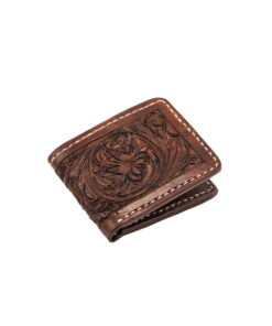 70's Wallet Pocket Engraved Black - Brown Down
