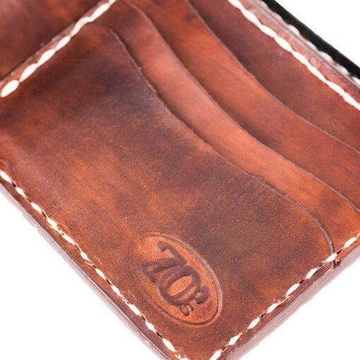 70's Wallet Pocket Flat - Brown Logo