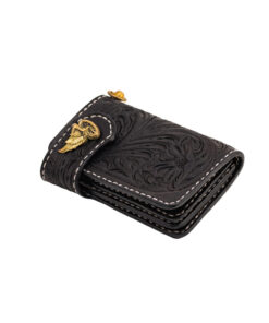 70's Wallet Shorty Engraved - Black