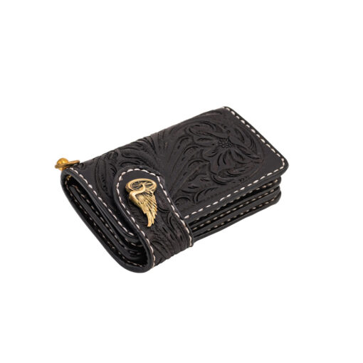 70's Wallet Shorty Engraved - Black Down