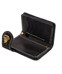70's Wallet Shorty Engraved - Black Interior
