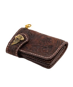 70's Wallet Shorty Engraved - Brown