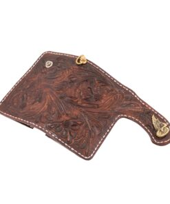 70's Wallet Shorty Engraved - Brown Exterior