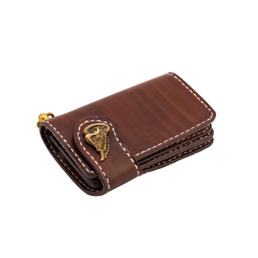 70's Wallet Shorty Flat - Brown Down