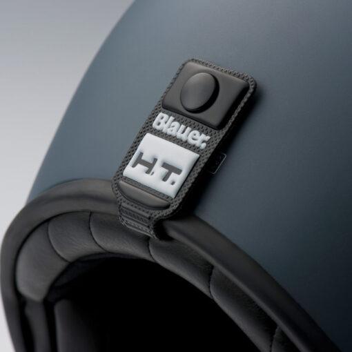 Blauer 80's Helmet - Black Matt Details