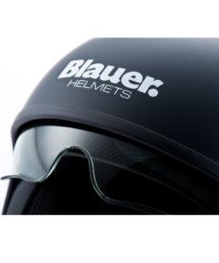 Blauer Pilot 1.1 Monochrome Black Matt Jet Helmet Logo
