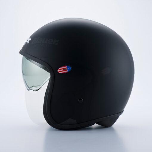 Blauer Pilot 1.1 Monochrome Black Matt Jet Helmet Profile