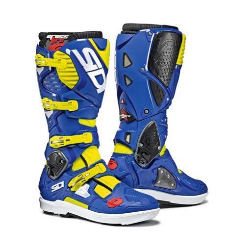 Sidi Crossfire 3 SRS Boots - Blue Yellow
