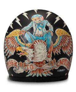 DMD Vintage Helmet - Eagle Rear