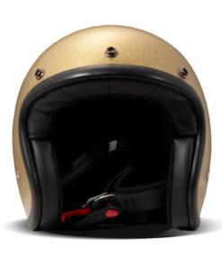 DMD Vintage Helmet - Glitter Gold Front