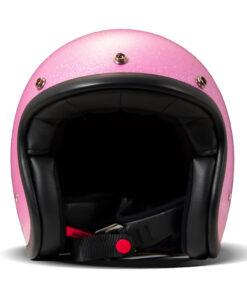 DMD Vintage Helmet - Glitter Pink Front