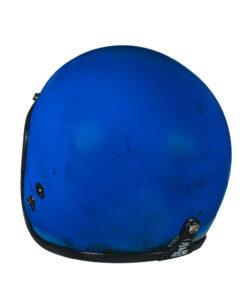 70's Helmets Pastello Dirty Blue Rear SX