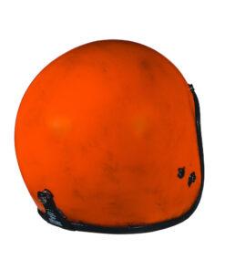 70's Helmets Pastello Dirty Orange Rear DX