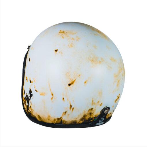 70's Helmets Pastello Dirty White Rear SX
