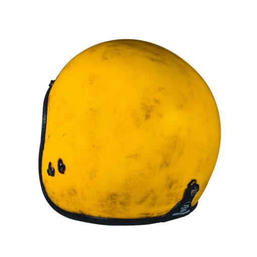 70's Helmets Pastello Dirty Yellow Rear SX