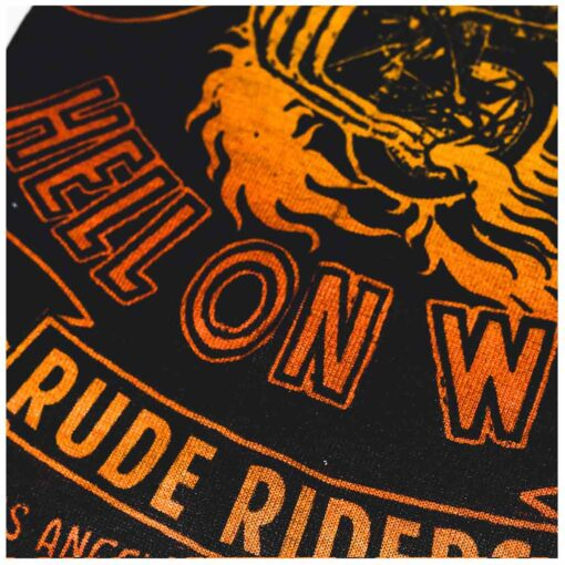 70s Neck Warmer - Rude Riders Wall of Death Details