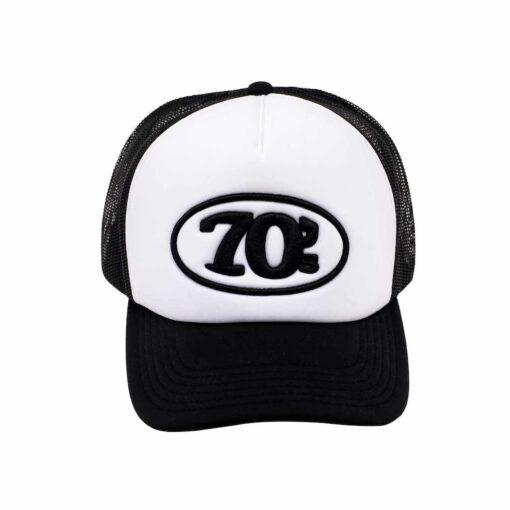 70s Trucker Cap Black White Front