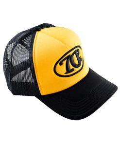 70s Trucker Cap Black Yellow DX