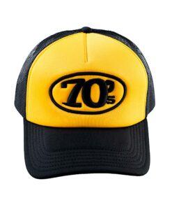 70s Trucker Cap Black Yellow Front