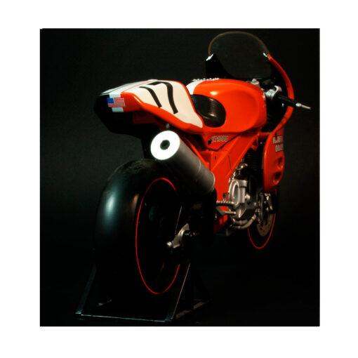 Harley Davidson- VR 1000 Scale motorcycle Back