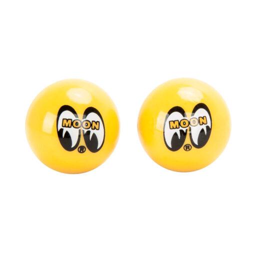 Mooneyes - Moon Air Valve Caps Yellow