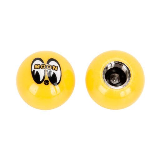 Mooneyes - Moon Air Valve Caps Yellow Sides