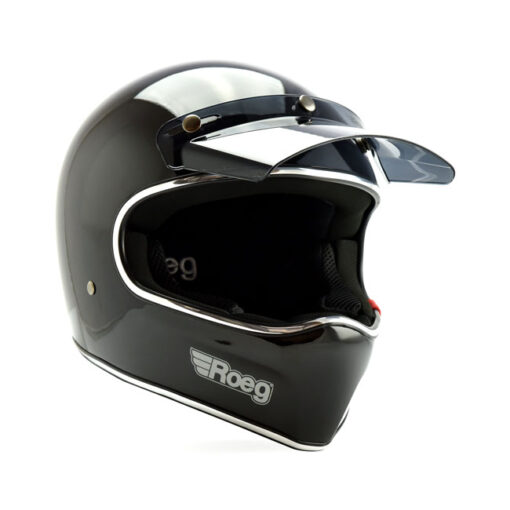 Roeg Peruna Helmet - Black Gloss Profile