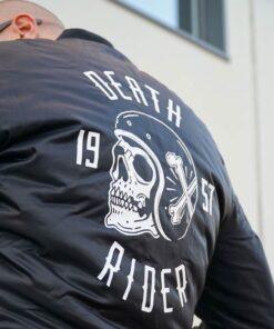 Skull Bomber Jacket - Death Rider Rear Details