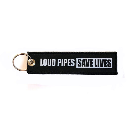 Motorcycle Keychain - Loud Pipes Save Lifes