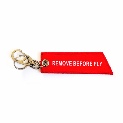 Motorcycle Keychain - Remove Before Fly Front